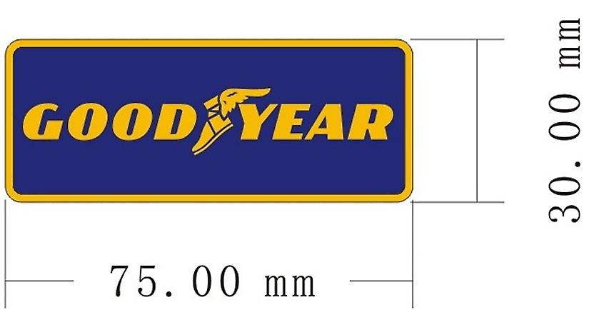 Pair (2) of Goodyear vinyl peel off decals / stickers    (ff)