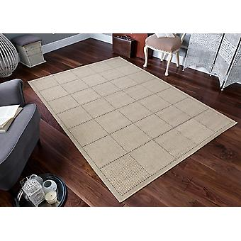 Checked Flatweave Beige Light beige  Rectangle Rugs Plain/Nearly Plain Rugs