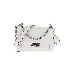 Michael Kors Cece White Leather Shoulder Bag