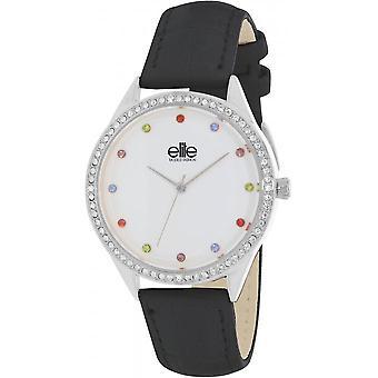 Elit E55072-203 - klocka läder svart kvinna