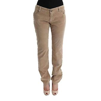 Ermanno Scervino Beige Cotton Velvet Regular Fit Pants -- SIG3508144