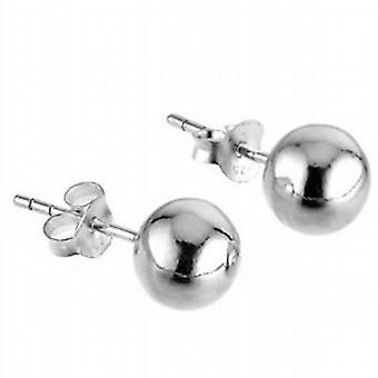 TOC Sterling Silver Ball Stud Earrings 6mm