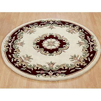 Rugs -Mahal Round - Cream & Red