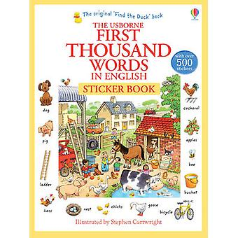 First Thousand Words in English Sticker Book by Heather Amery - Steph