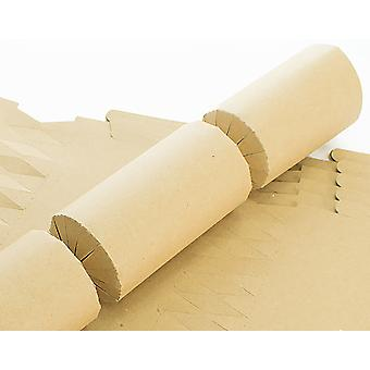100 BUDGET Natural Brown Recycled Kraft Make & Fill Your Own Crackers - Bulk Buy