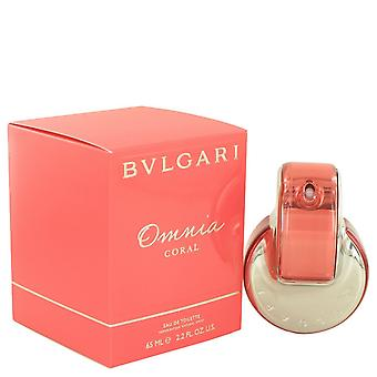 Omnia koraal door Bvlgari Eau De Toilette Spray 2.2 oz/65 ml (vrouwen)
