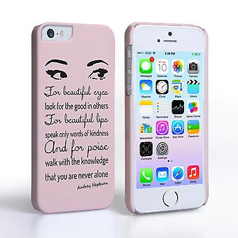Caseflex iPhone 5and5s Audrey Hepburn 'Eyes' Quote Case