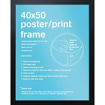Eton zwart Frame Mini Poster / Frame afdrukken