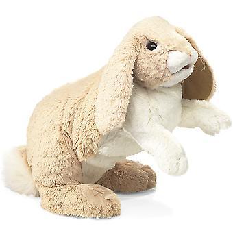 Handpuppe - Folkmanis - Kaninchen Floppy Bunny neue Tiere weiche Puppe Plüsch 2838