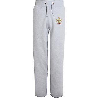 Light Dragoons Veteran - Licensed British Army Embroidered Open Hem Sweatpants / Jogging Bottoms