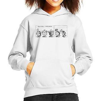 Krazy Kat Terry P Turtle Lineup Kid's Hooded Sweatshirt