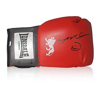 Sugar Ray Leonard Signed Red Boxing Glove