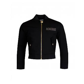 Moschino Moschino Kids Toy Bear Diamante Bomber Jacket