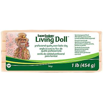 Super Sculpey Living Doll Clay 1 Pound Beige Zsld 1