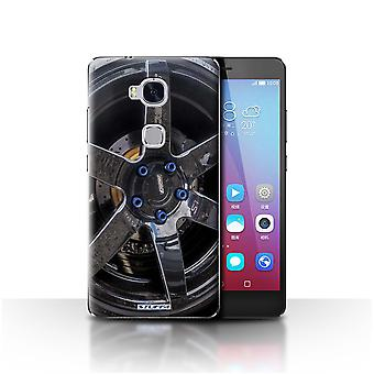 STUFF4 Case/Cover for Huawei Honor 5X/GR5/Black/Blue/Alloy Wheels