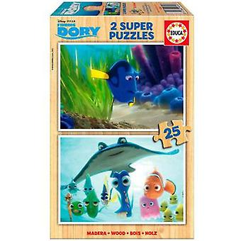 Educa Puzzle Finding Dory 2x25 Pieces (Toys , Boardgames , Puzzles)