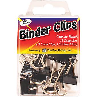 Binder Clips 15/Pkg-Black TPG-181