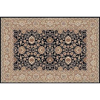 Kamira minuit 4472-799 noir avec bordure or Rectangle Tapis Tapis traditionnel