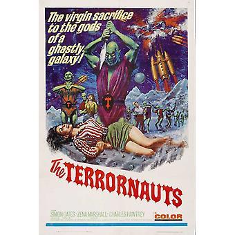 Terrornauts filmen affischen (11 x 17)