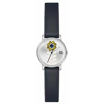 Orla Kiely Womans Navy Leather Strap Silver Dial OK2047 Watch
