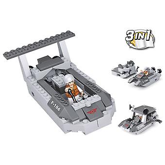 Sluban Army 3 In 1 Patrol Boat 97 Pieces (Toys , Constructions , Vehicles)
