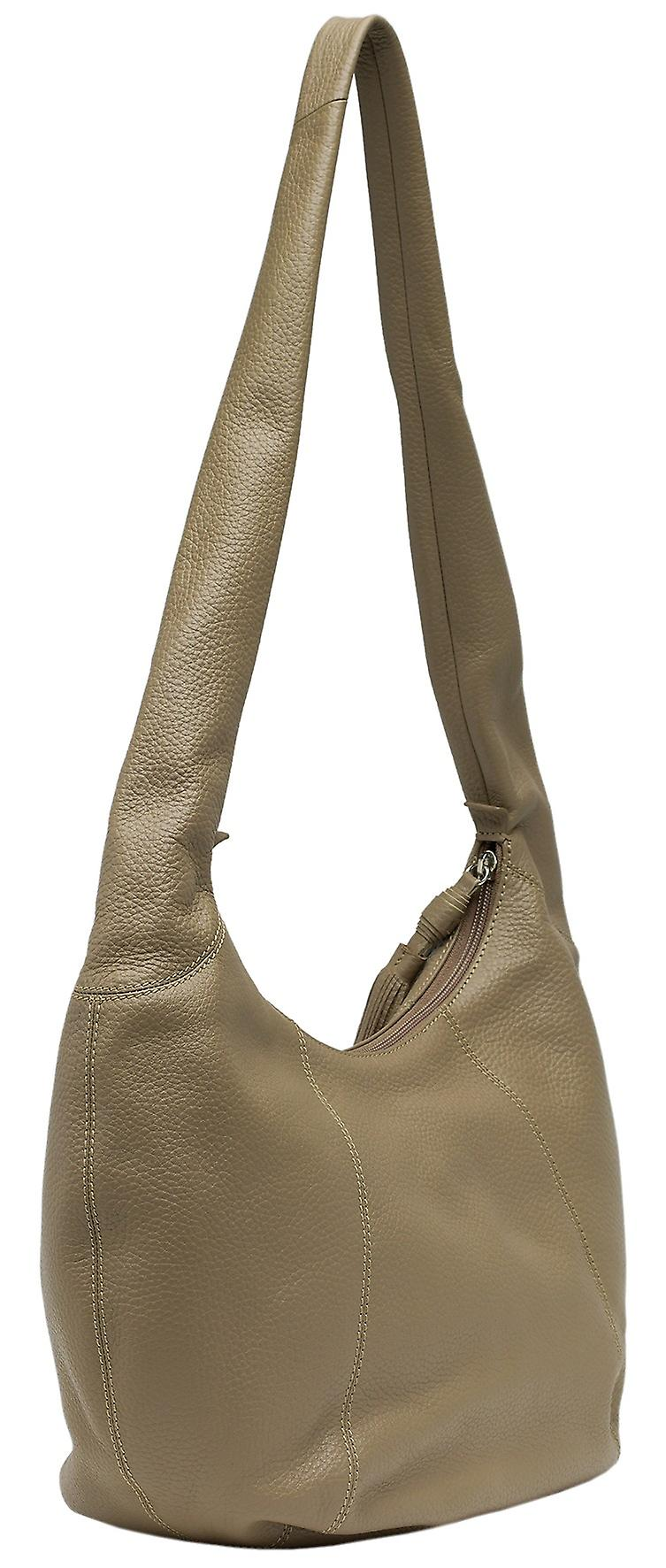 Burgmeister ladies shoulder bag T220-215B leather taupe