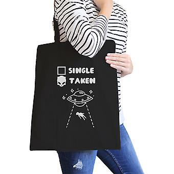 Single Taken Alien Black Cute Shoulder Bag Unique Design Tote