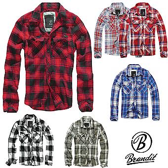 Brandit men check shirt flannel shirt