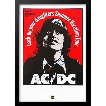 AC/DC Signed Tour Poster