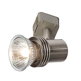 LED Robus Petite 50W Brushed Chrome Track Light Spotlight Head