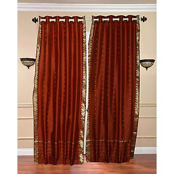 Ring oben schiere Sari Vorhang Rost / drapieren / Panel - Stück