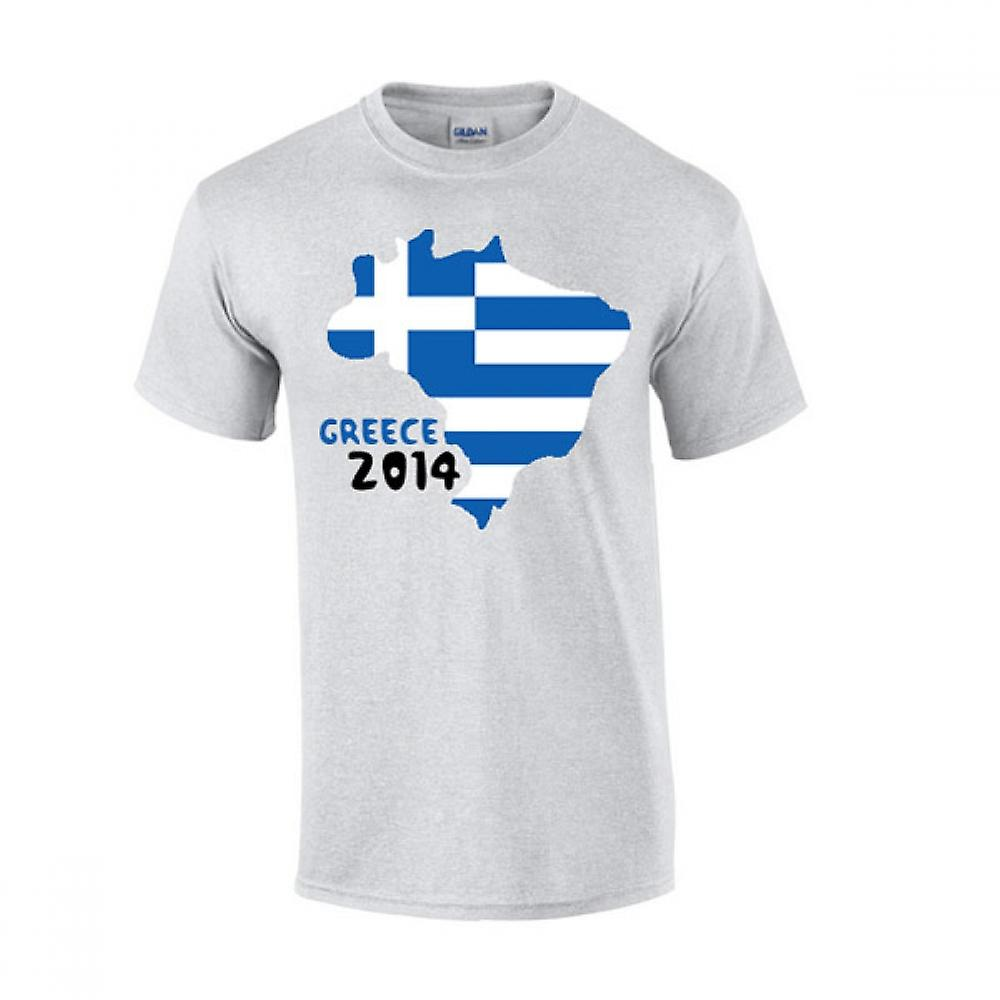Hellas 2014 land flagg T-shirt (grå)