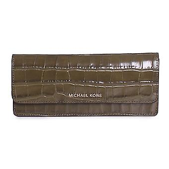 Michael Kors Money Pieces Crocodile-embossed Leather - Flat Wallet - Olive - 32F7GF6F2E-333