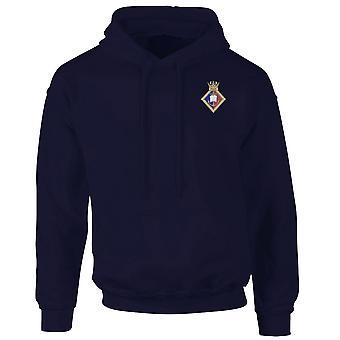 HMS Wales broderad Logo - officiell Royal marinblå Hoodie