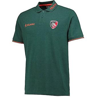 2017-2018 Leicester Tigers giocatori Rugby Pique Polo (verde)