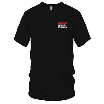US Army - Cavalleria Guide sulla bandierina con teschio e sciabole incrociate ricamati Patch - Ladies T Shirt