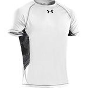 Under Armour Herren Kompressions-T-Shirt HeatGear® ArmourVent™ shortsleeve color white