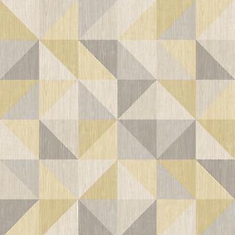 A Street Prints Geometric 3D Effect Wallpaper Squares Triangles Luxury Modern