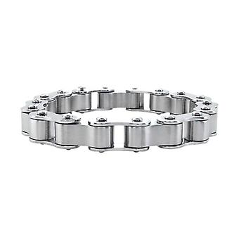 Men's stainless steel biker motor chain bracelet