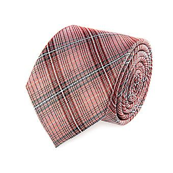 OTTO KERN soie cravate rouge Plaid