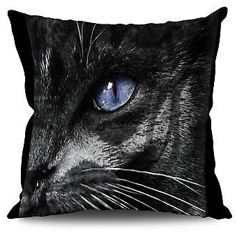 Cuscino in lino mistico occhio animale mistico occhio animale gatto | Wellcoda