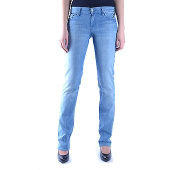 7 for all mankind women's MCBI004019O light blue cotton of jeans