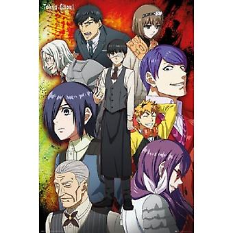 Tokyo Ghoul - Group - Anime Poster Poster Print