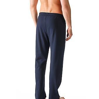 Mey 24660-668 mannen netwerk blauwe effen kleur Pajama pyjama's Pant