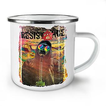Resistance Protest NEW WhiteTea Coffee Enamel Mug10 oz | Wellcoda