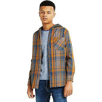 Dare 2b Boys Etching Brushed Cotton Cuffed Jersey Hooded Shirt