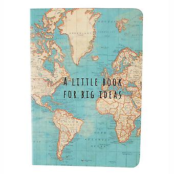 Sass y Belle mapa Vintage grandes Ideas Notebook, multicolor
