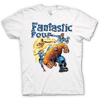 Mens t-skjorte - Fantastic Four - tegneserie superhelt