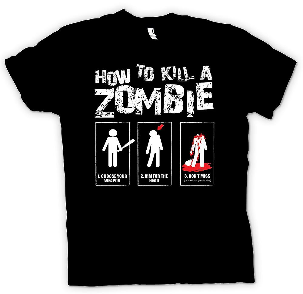Kids T-shirt - How To Kill A Zombie - Funny
