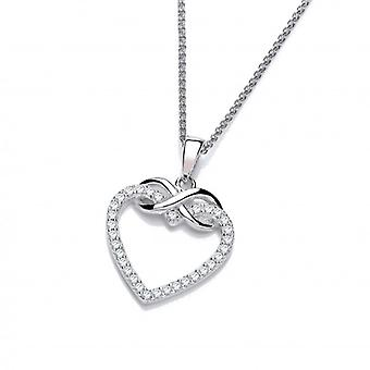 Cavendish French Silver and CZ Infinity Heart Pendant without Chain